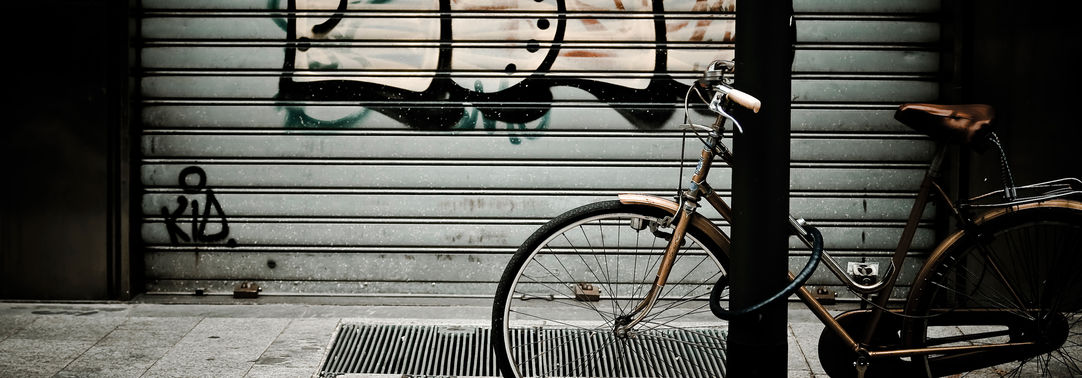 bike on graffiti street