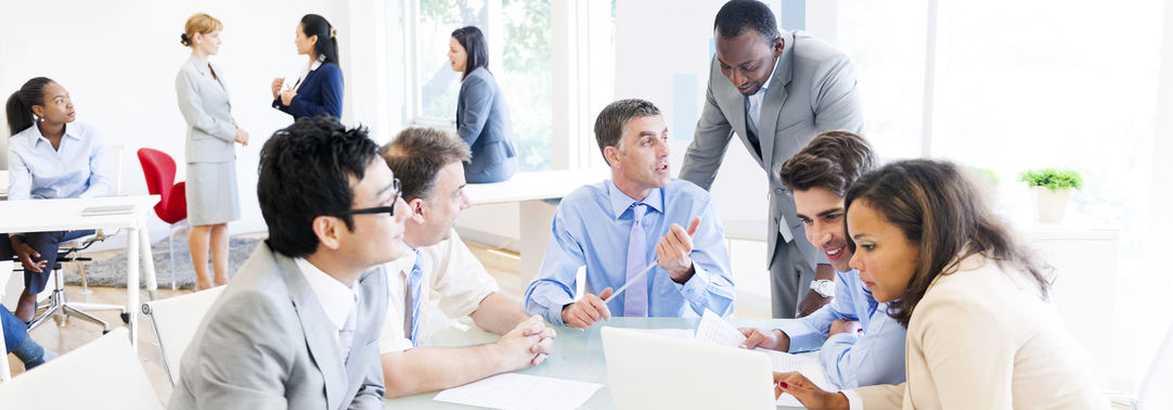 Employees in an office environment