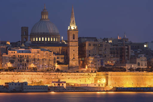 Valletta at night