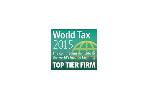 World Tax 2015 award
