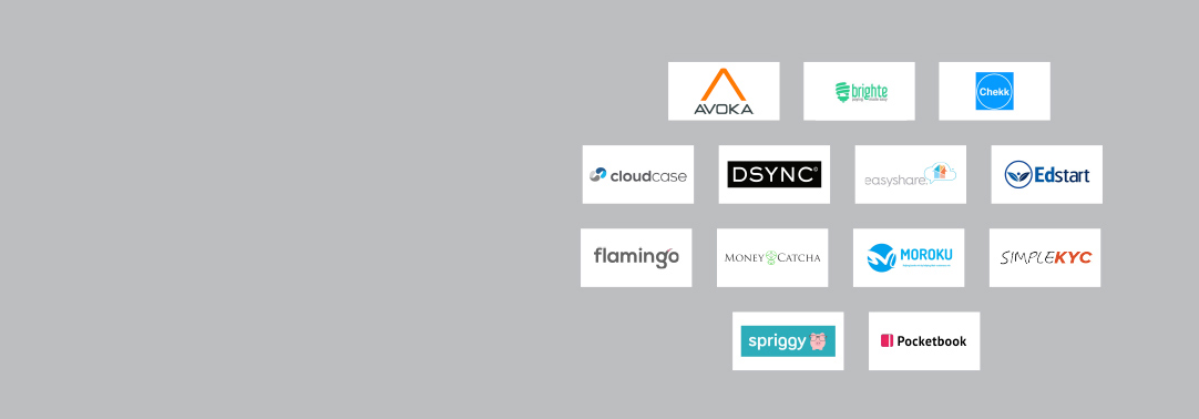 Logos of participating fintechs