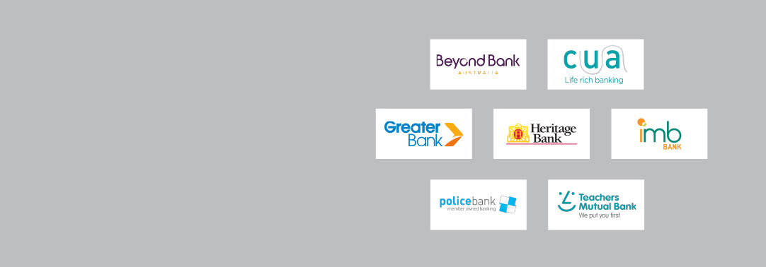 Logos of participating Mutual banks