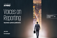 Voices on Reporting: Quarterly updates publication – July 2020