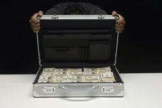 money in a briefcase