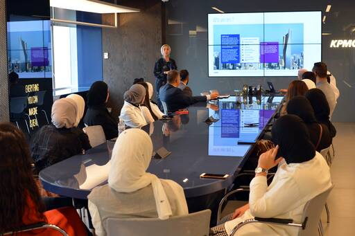 AUM students visit KPMG in Kuwait