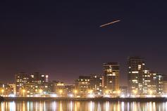 shooting star in the city