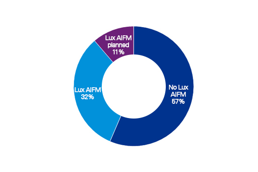 Overview of AIFMs in Luxembourg by sector