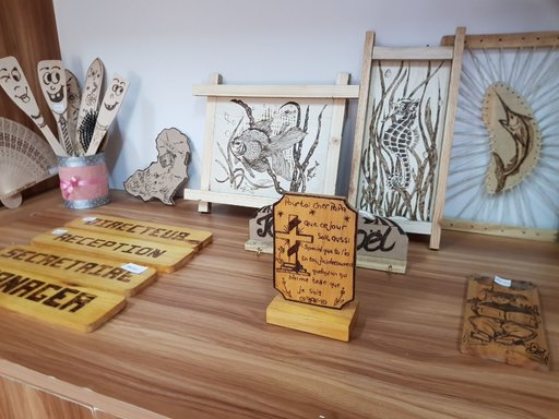 Wood engravement products from the Zen Artitude Boutik