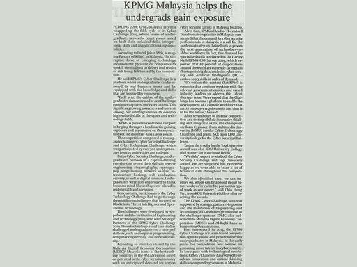 Daily Express KK - KPMG Malaysia helps the undergrads gain exposure