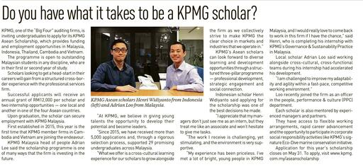 Do you have what it takes to be a KPMG scholar?