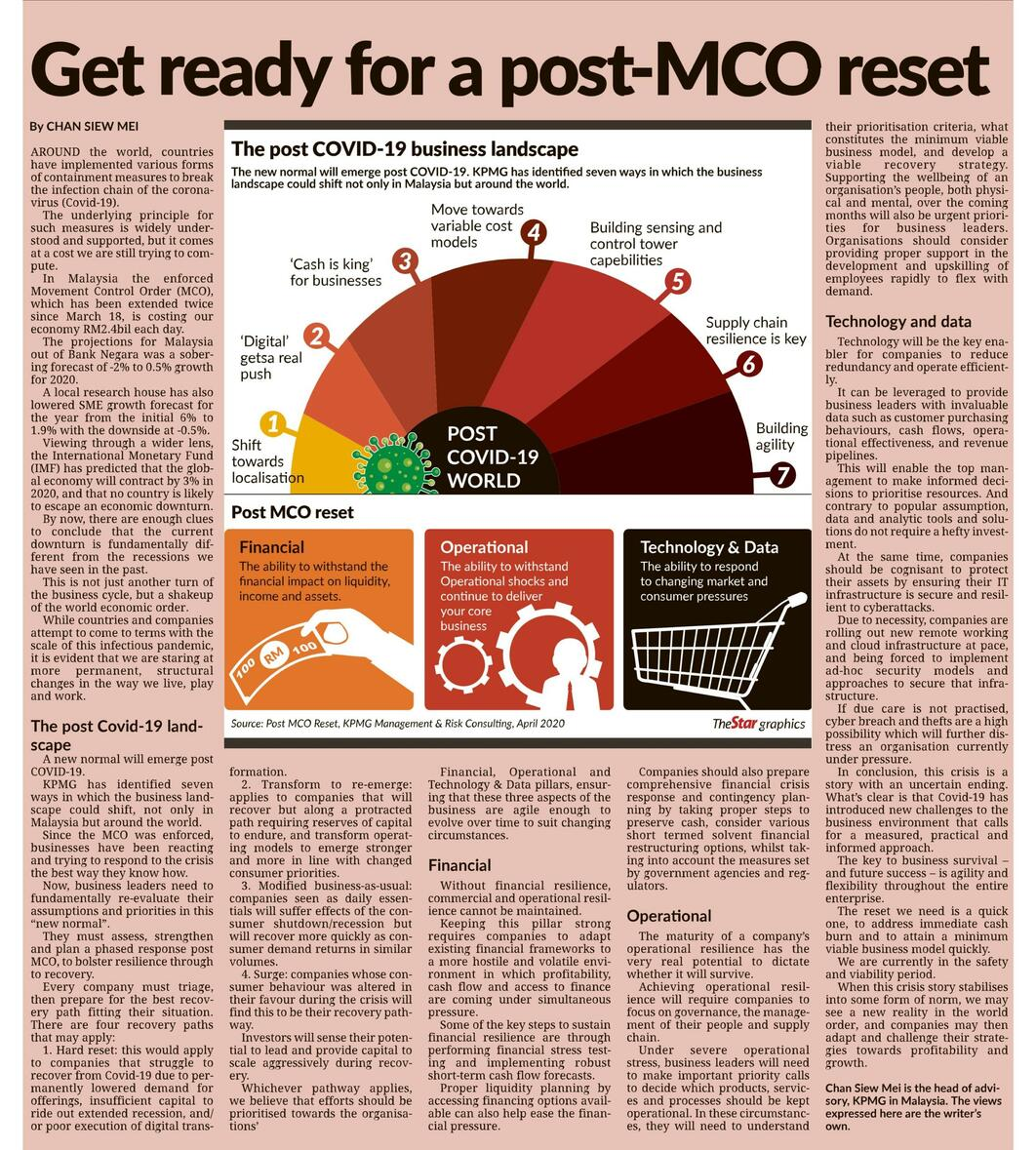 Get Ready For A Post Mco Reset Kpmg Malaysia