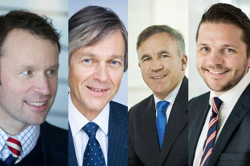 Thor Leegaard, Anders H. Liland, Pedro S. Leite og Per Daniel Nyberg fra KPMG Law Advokatfirma.