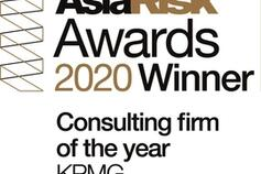 kpmg is consulting firm of the year - asia risk awards 2020