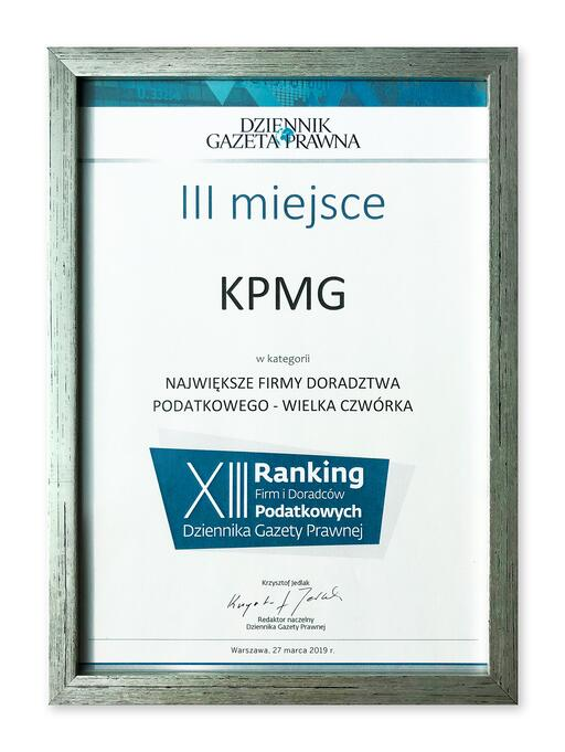 KPMG among the largest tax advisory firms in Poland in 2018