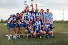 Belhospice football tournament winners
