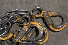 Rusted iron chains