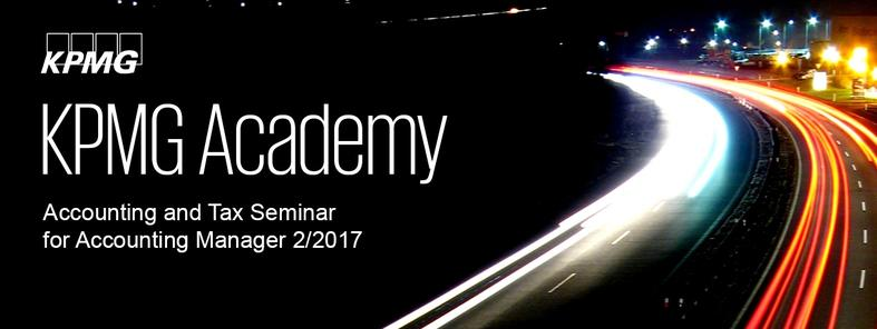 Accounting and Tax Seminar for Accounting Manager 2/2017
