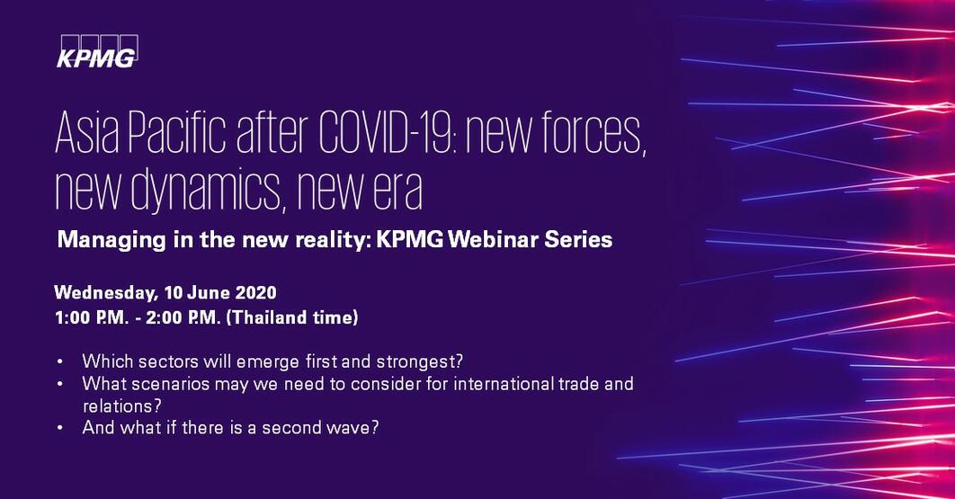 Asia Pacific after COVID-19: new forces, new dynamics, new era