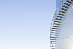 staircase up chemicals storage tank