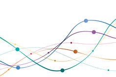 Spotlight on the asset management industry report - image of several coloured strings