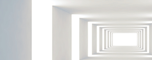 Challenging perspectives: CEO insights report - photo of a long corridor with lights