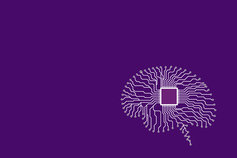 Internal audit's future: Ready for change - illustration brain image on purple background