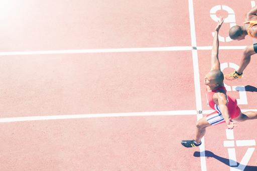 Solvency II public reporting – Getting over the line - athletics running in a race