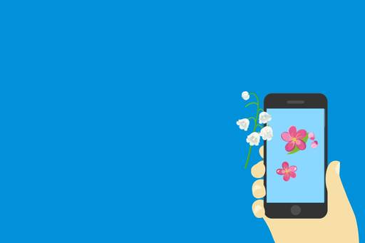 OECD publishes hotly anticipated interim report on digital economy taxation, Illustration of IPhone with spring flowers