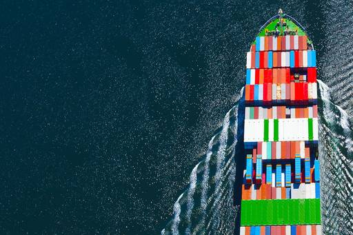 Revisiting direct lending, Image of container ship