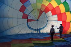 Changing Futures - Services - Inside a hot air balloon