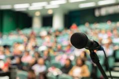 Listen to the voices of change: coverage from the 30 Voices launch event - Microphone in front of Audience