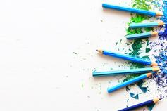 The Organic Growth Barometer 2018 - blue pencil crayons and shavings