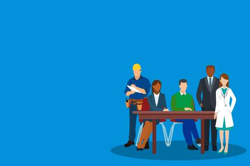 Multi-employer schemes and why they don't always work, Different kind of employees at a table