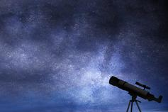 Family Business Times - Winter Edition - photo of a telescope against the night sky