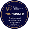 British Accountancy Award: 2017 Winner Graduate and Non-Graduate programme of the year