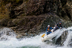 Changing Futures- two kayakers in white water