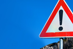 Zombies in our Midst - Road sign triangle with exclamation mark