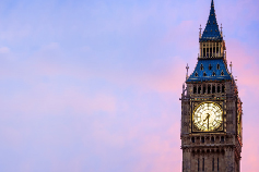 Bridging the Atlantic - What next for US-UK trade? - London Clock tower image with purple sky