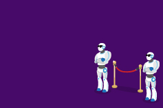 Safety first: How AI is revolutionising sanctions screening systems - robots standing at gate entry