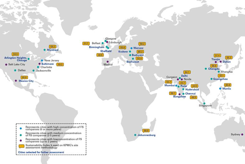 Finance sourcing footprint for Global Financial Services organisations