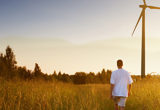 Climate risk: It's your future - windmill