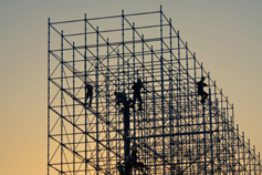 men on scaffolding