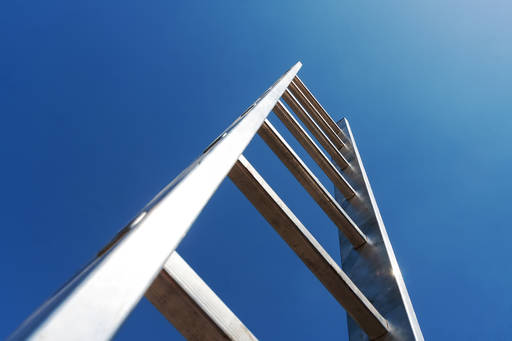ladder pointing to sky