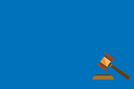 Gavel and block illustration