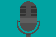grey-microphone-with-turquoise-background