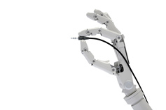 Robotic hand holding adapter