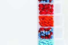 Pills in an organiser