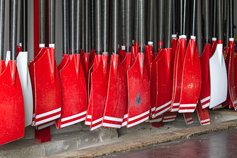 red boat paddles