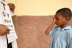Eye test of african kid