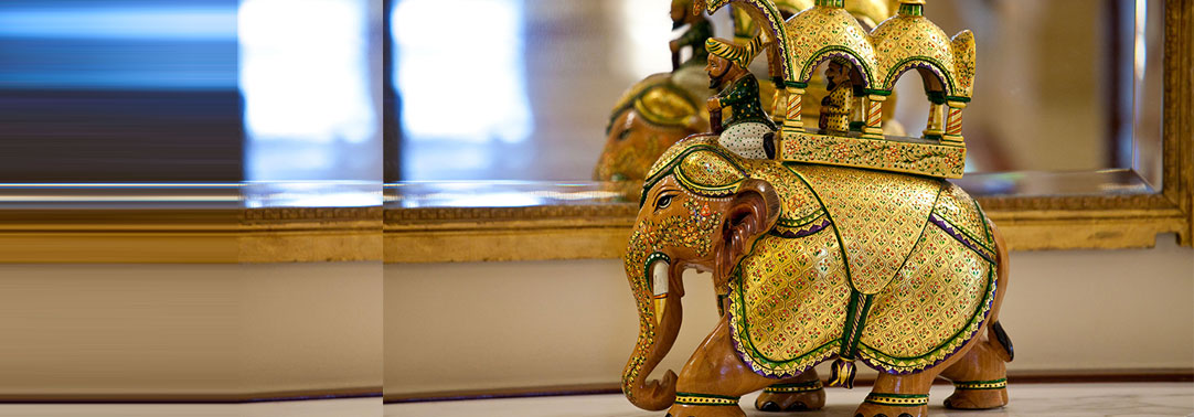 Golden elephant artifact